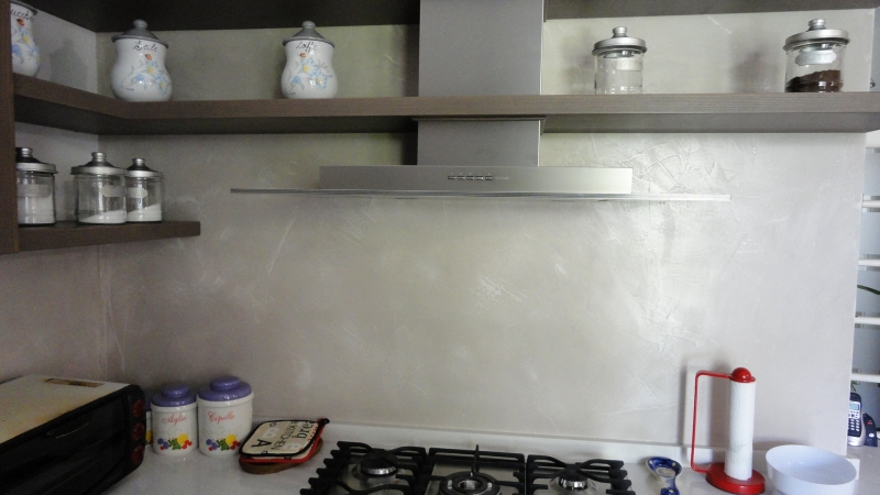 Cucina rivestimento resina oraziresine - Rivestimento per cucina ...